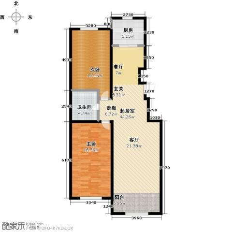 山水家园2室0厅1卫1厨97.00㎡户型图