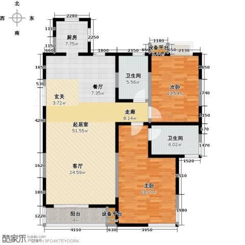 富力津门湖2室0厅2卫0厨120.00㎡户型图