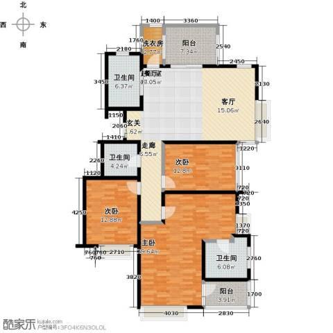 国贸仁皇3室0厅3卫0厨142.00㎡户型图