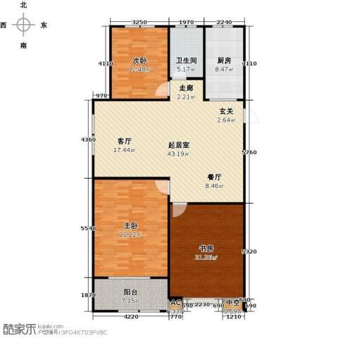 金色维也纳3室0厅1卫1厨128.00㎡户型图