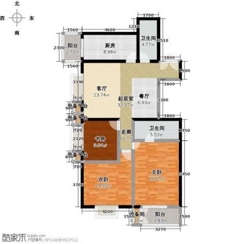空港米兰花园3室0厅2卫1厨149.00㎡户型图