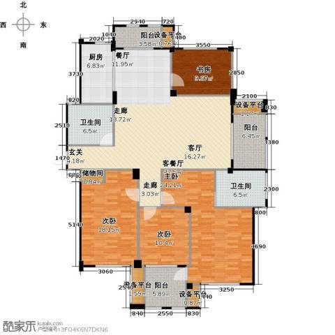 春江名城4室1厅2卫1厨164.00㎡户型图