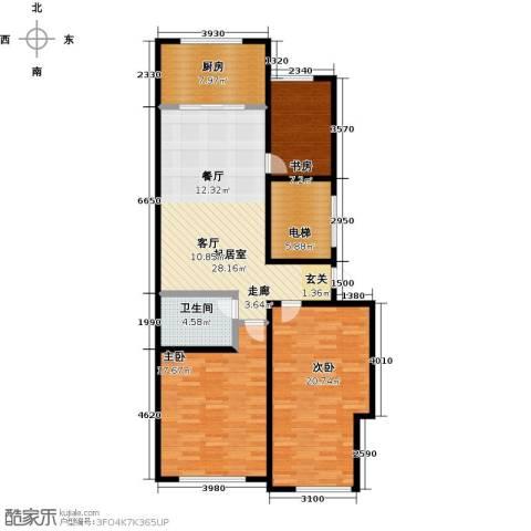 山水家园3室0厅1卫1厨103.00㎡户型图