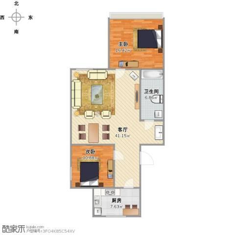 草桥欣园三区2室1厅1卫1厨110.00㎡户型图