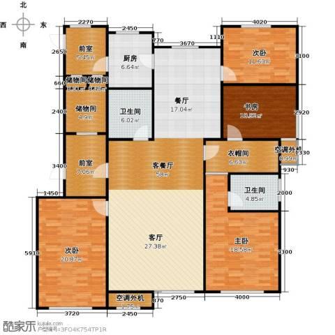 牡丹城4室1厅2卫1厨221.00㎡户型图