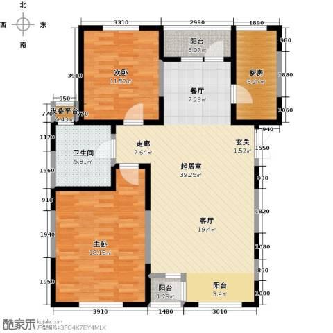 富力津门湖2室0厅1卫1厨100.00㎡户型图