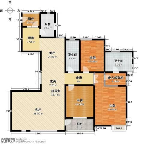富力津门湖3室0厅2卫1厨180.00㎡户型图