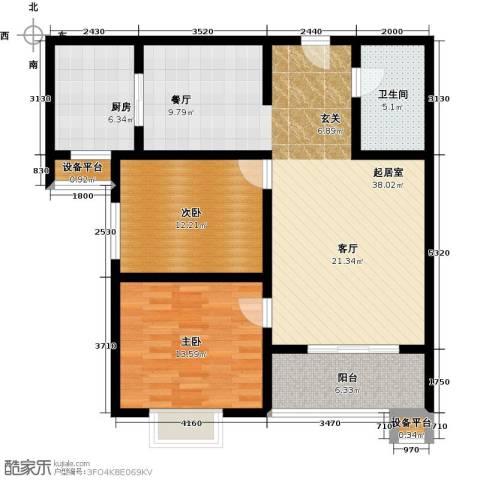 华浩广星源2室0厅1卫1厨119.00㎡户型图
