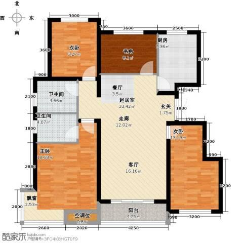紫金江尚4室0厅2卫1厨148.00㎡户型图