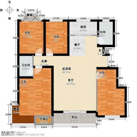 紫金江尚4室0厅2卫1厨168.00㎡户型图