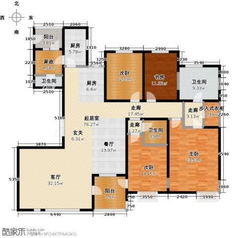 富力津门湖4室0厅3卫1厨220.00㎡户型图
