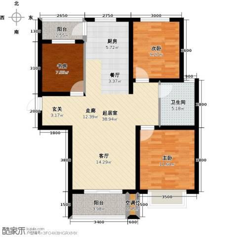 紫金江尚3室0厅1卫0厨113.00㎡户型图