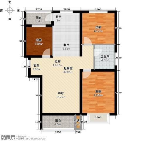 紫金江尚3室0厅1卫0厨116.00㎡户型图