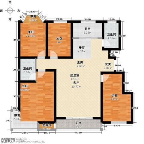 紫金江尚4室0厅2卫1厨166.00㎡户型图