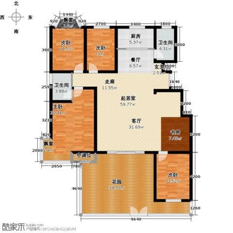 紫金江尚4室0厅2卫1厨226.00㎡户型图