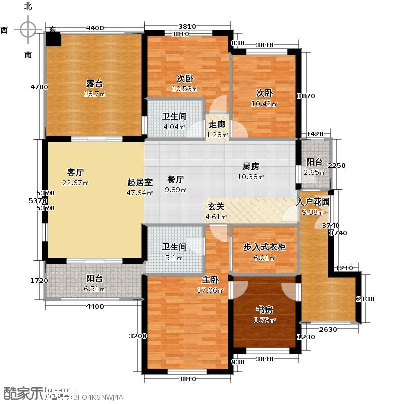 信阳建业森林半岛163.20㎡A1户型4室2厅2卫