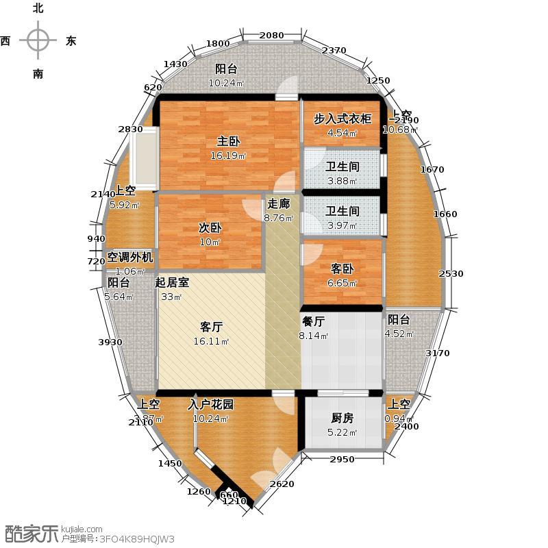 四季康城二期尚域世家户型3室2卫1厨