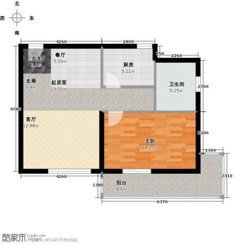 龙湾一品1室0厅1卫1厨70.00㎡户型图