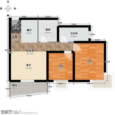 龙湾一品2室0厅1卫1厨94.00㎡户型图