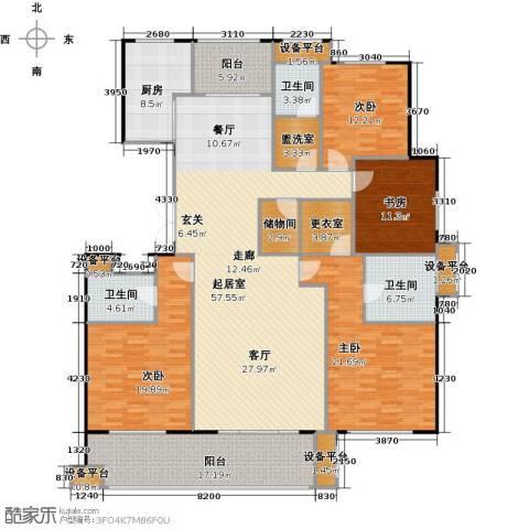 邦泰中央花城4室0厅3卫1厨199.00㎡户型图