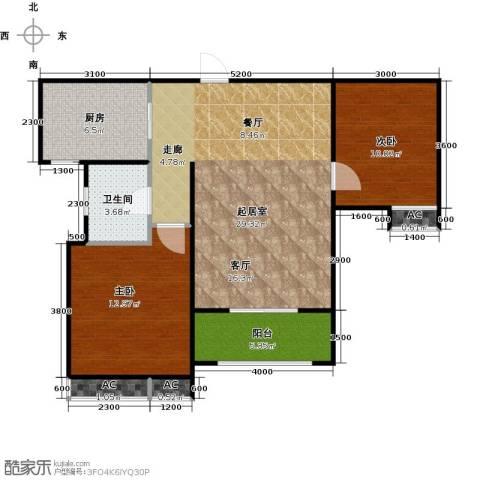 东岭欣城2室0厅1卫1厨88.00㎡户型图