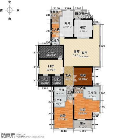 融泽府3室2厅4卫1厨234.00㎡户型图