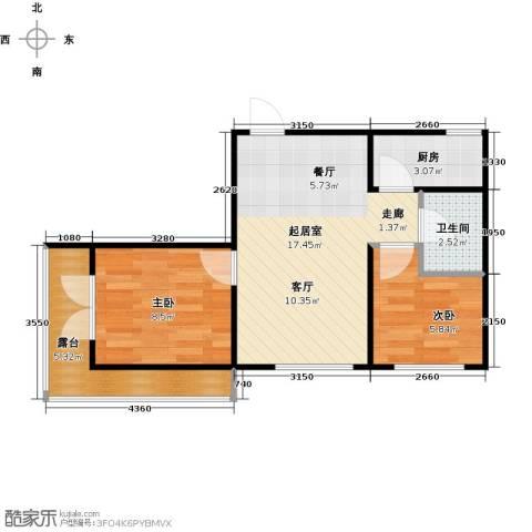 滨才城2室0厅1卫1厨59.00㎡户型图