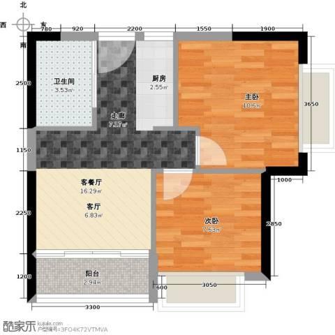 T PARK时尚公园2室1厅1卫0厨62.00㎡户型图