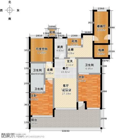 合景・汀澜海岸2室0厅3卫1厨137.28㎡户型图