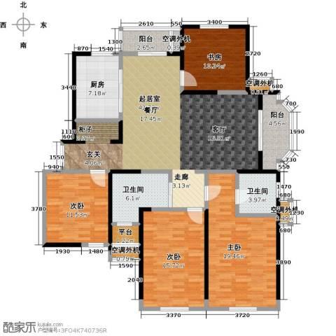 名豪天台苑4室0厅2卫1厨157.00㎡户型图