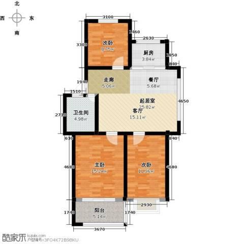 和美花园3室0厅1卫1厨87.00㎡户型图