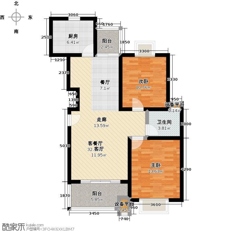 梅川二街坊南块90.00㎡房型: 二房; 面积段: 90 -100 平方米;户型