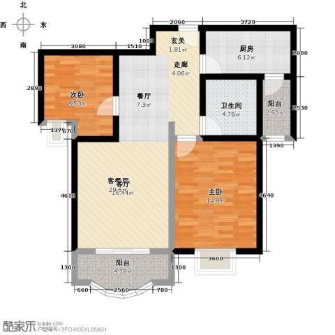 阳光威尼斯(阳光建华城四期)2室1厅1卫1厨90.00㎡户型图