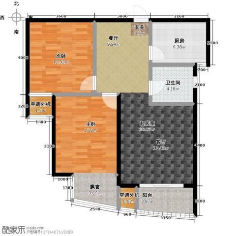 枫林湾2室0厅1卫1厨89.00㎡户型图