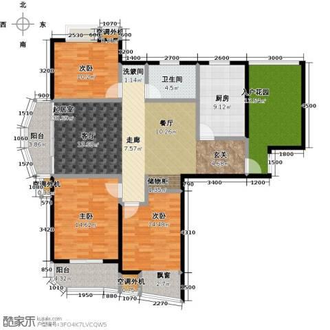 枫林湾3室0厅1卫1厨129.92㎡户型图