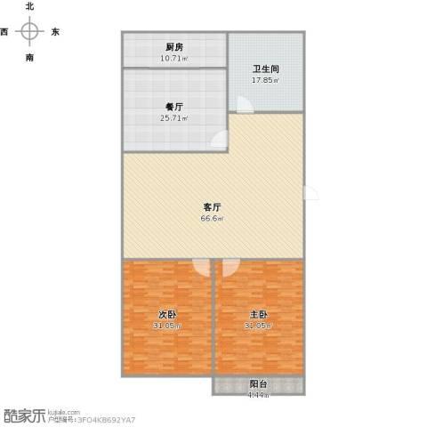 鑫泉花园2室2厅1卫1厨196.21㎡户型图
