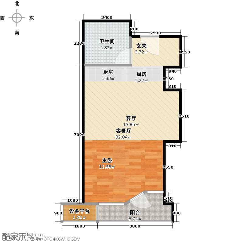上海天之骄子45.00㎡B户型1室