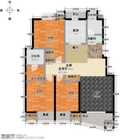 枫林湾3室0厅2卫1厨143.00㎡户型图