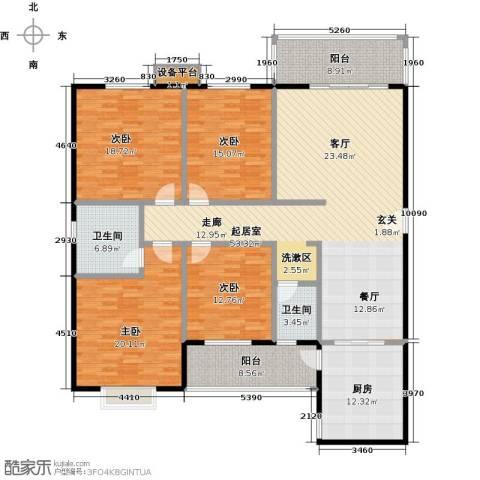 华富世家4室0厅2卫1厨178.00㎡户型图