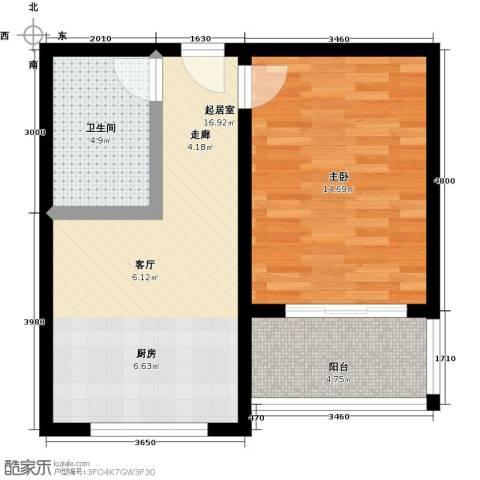 吉隆公寓1室0厅1卫0厨48.00㎡户型图