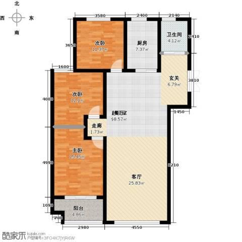 锦华广场3室0厅1卫1厨152.00㎡户型图