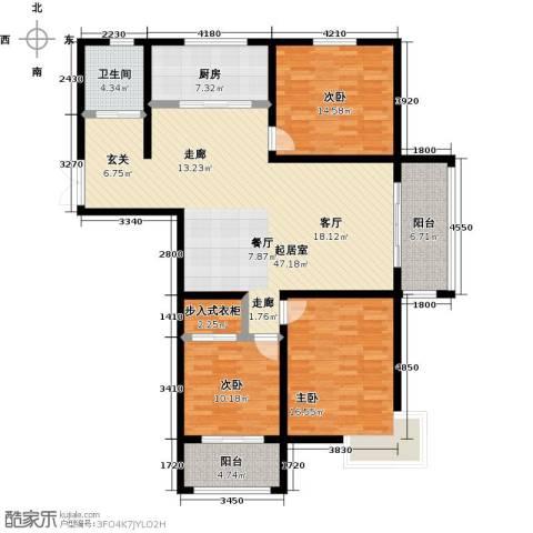 锦华广场3室0厅1卫1厨162.00㎡户型图