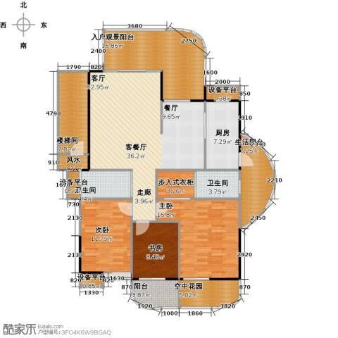 金信凤凰花园3室1厅2卫1厨186.00㎡户型图