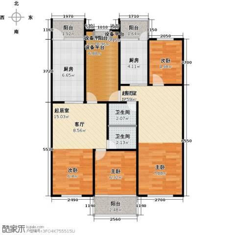 新阳绿洲春城2室0厅2卫2厨100.00㎡户型图
