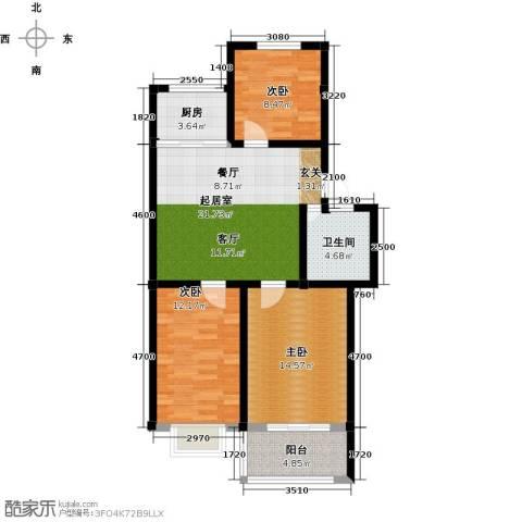 和美花园3室0厅1卫1厨81.00㎡户型图