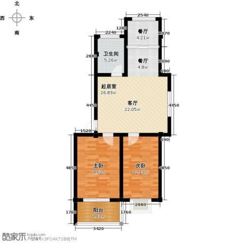 和美花园2室1厅1卫0厨78.00㎡户型图