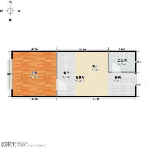 潍坊世贸中心1室1厅1卫0厨61.95㎡户型图