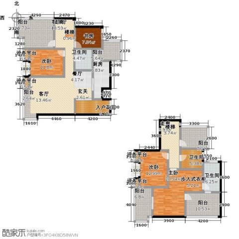 倍特领尚4室1厅3卫1厨261.00㎡户型图