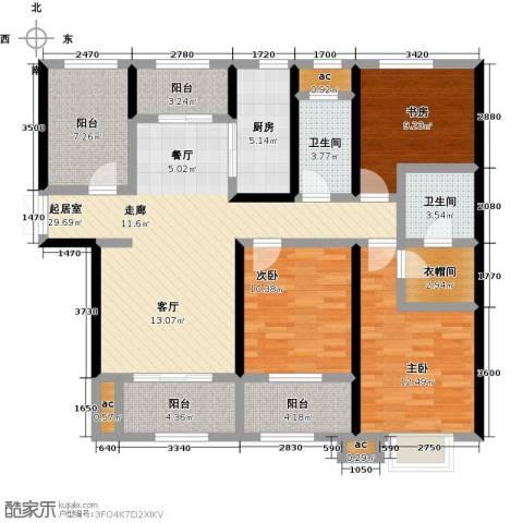 君河湾3室0厅2卫1厨147.00㎡户型图