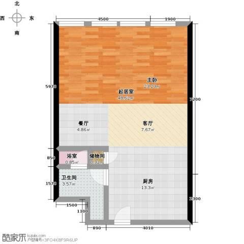 德胜凯旋公寓1卫0厨89.00㎡户型图